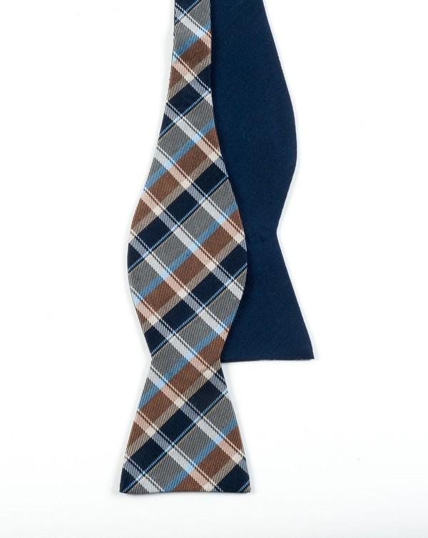 Mcfadden Solid Navy Bow Tie