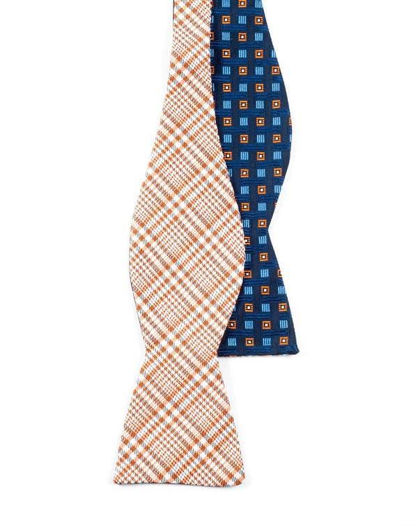 Twilight Geos Tangerine Bow Tie
