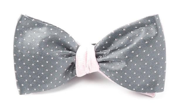 Mini Paisley Grey Bow Tie