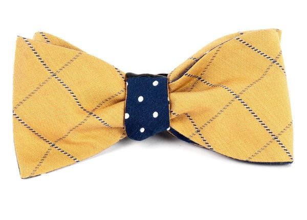 Goalpost Dots Mustard Bow Tie