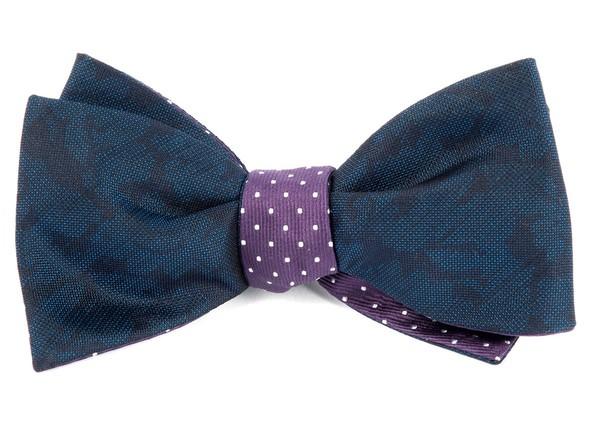 Refinado Dots Navy Bow Tie