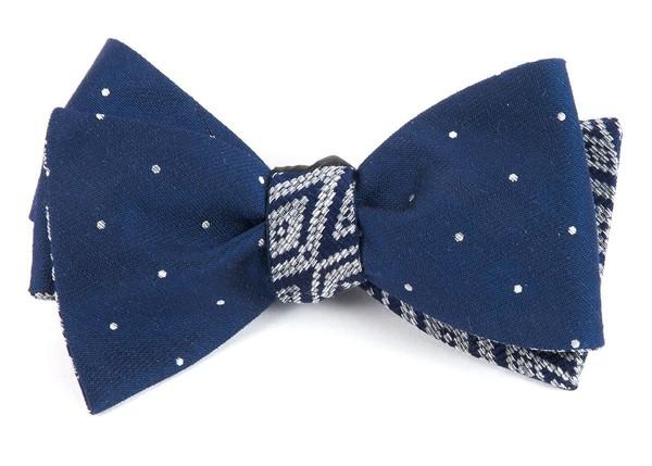 Bulletin Aztecture Navy Bow Tie