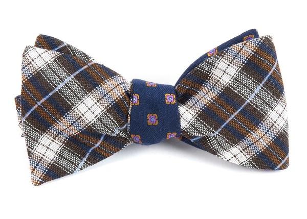 Plaid Scene Brown Bow Tie