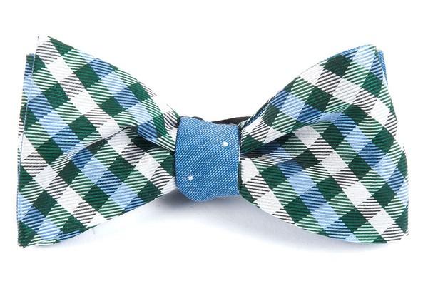 Polo Dot Green Bow Tie