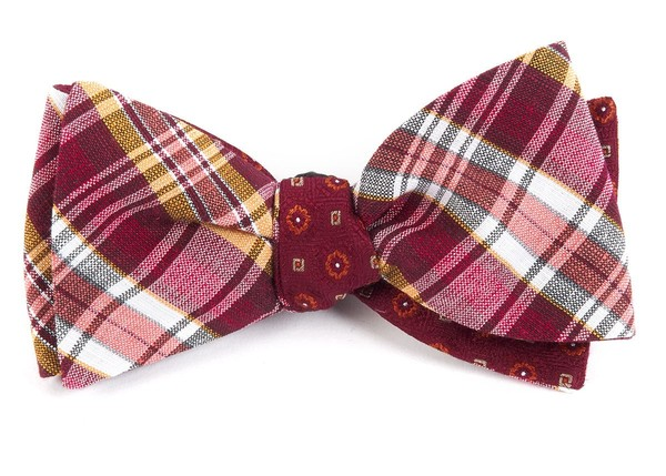 Rnr Medallion Red Bow Tie
