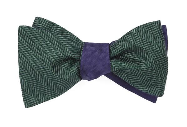 Verge Sound Wave Hunter Green Bow Tie