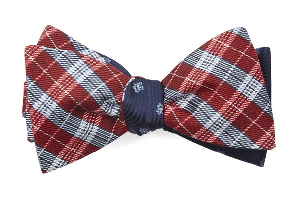 Emerson Flowers Red Bow Tie