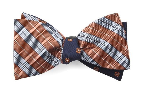 Emerson Flowers Orange Bow Tie