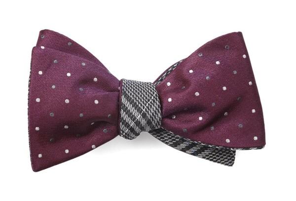 Jpl Plaid Deep Azalea Bow Tie