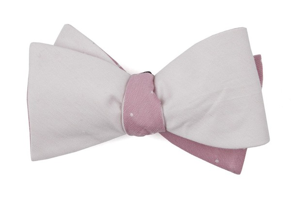 Linen Row Dot Blush Pink Bow Tie