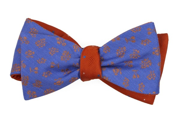 Fruta Dots Periwinkle Bow Tie