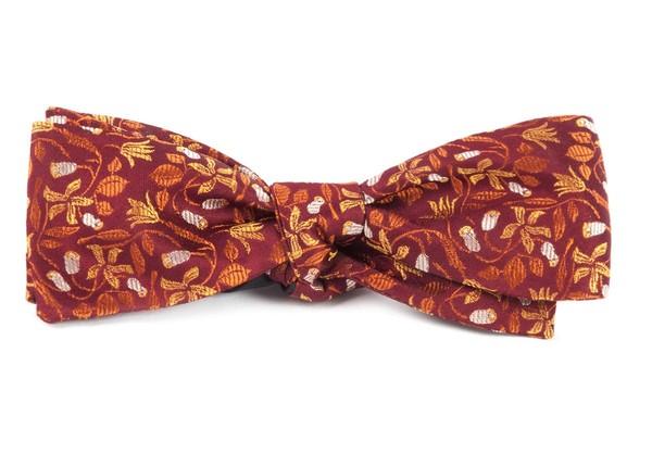 The Hepburn Burgundy Bow Tie