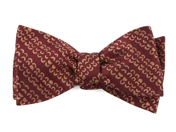 The Justin Burgundy Bow Tie