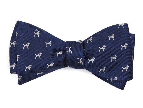 The Megan Mullally Navy Bow Tie