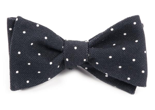 Primary Dot Black Bow Tie