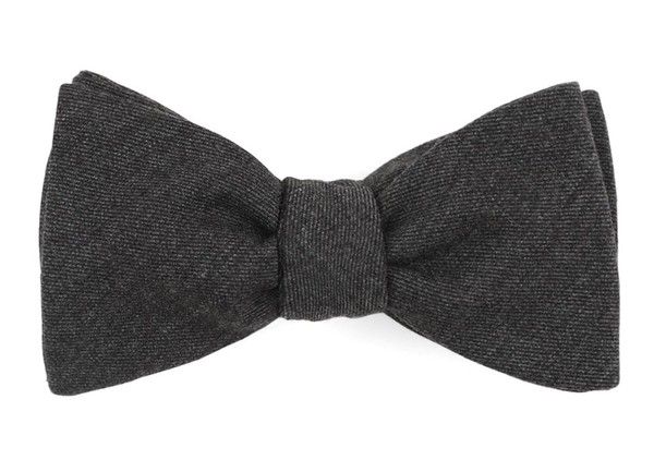Swansea Solid Charcoal Bow Tie