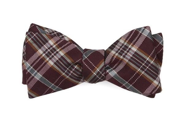 Andersen Plaid Burgundy Bow Tie