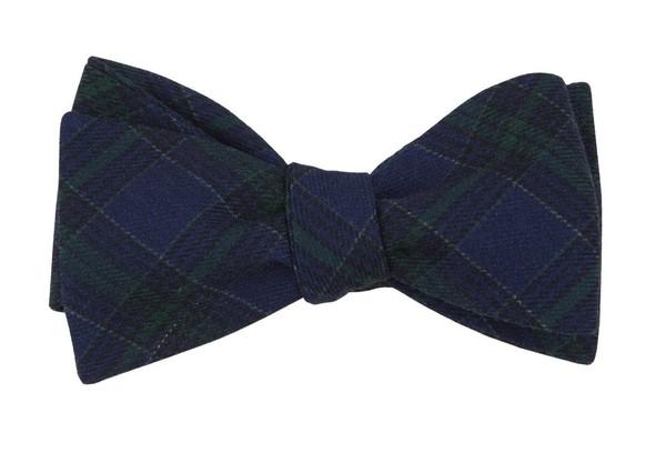 Pittsfield Plaid Navy Bow Tie