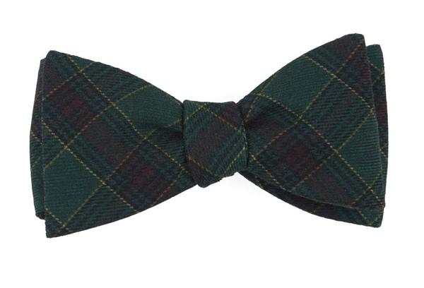 Pittsfield Plaid Hunter Green Bow Tie