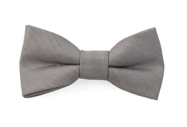 Bhldn Linen Row Silver Bow Tie