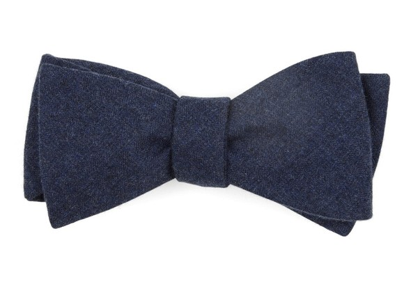 Foundry Solid Navy Bow Tie