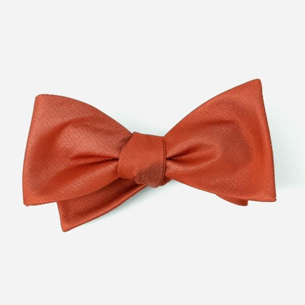 Grosgrain Solid Rust Bow Tie