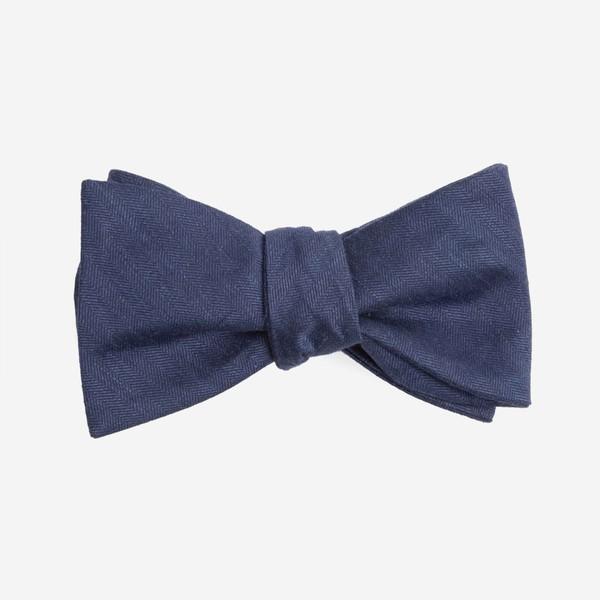 Linen Row Navy Bow Tie