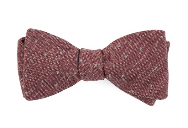 Redwood Dot Raspberry Bow Tie