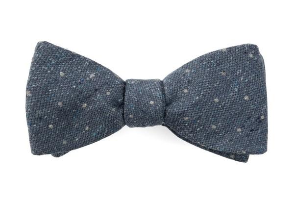 Redwood Dot Slate Blue Bow Tie