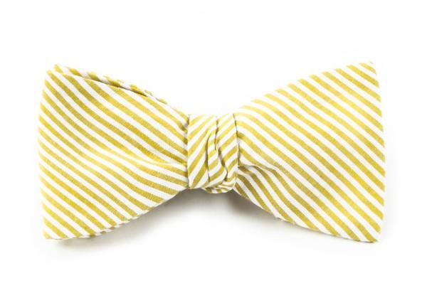 Seersucker Yellow Bow Tie