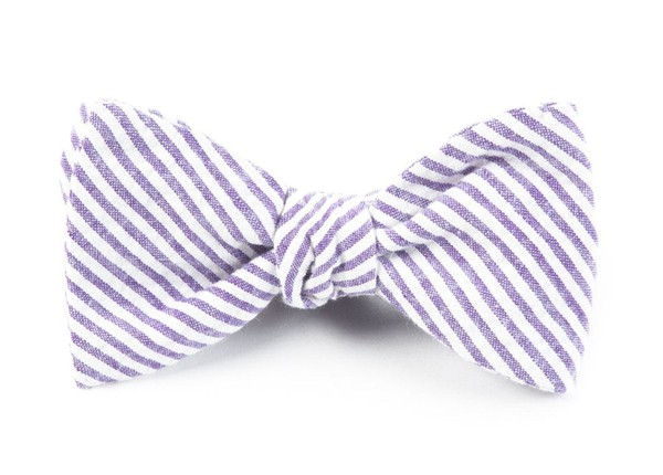 Seersucker Soft Lavender Bow Tie