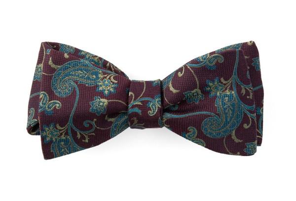Trad Paisley Wine Bow Tie