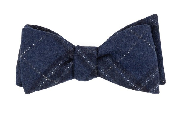 Barberis Wool Sotto Blue Bow Tie