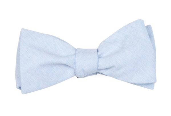 Sunset Solid Light Blue Bow Tie