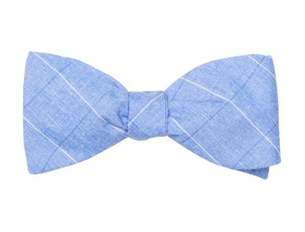 Daybreak Checks Blue Bow Tie