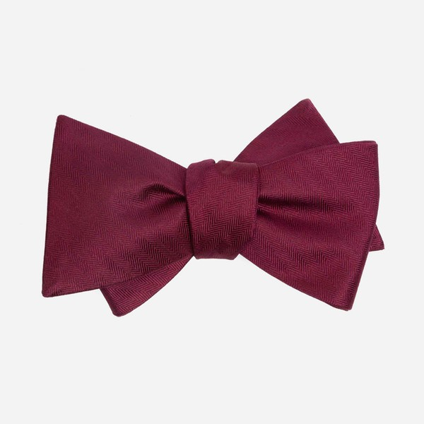 Mumu Weddings - Desert Solid Merlot Bow Tie
