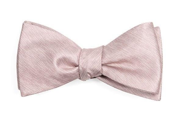 Mumu Weddings - Desert Solid Neutral Mauve Bow Tie