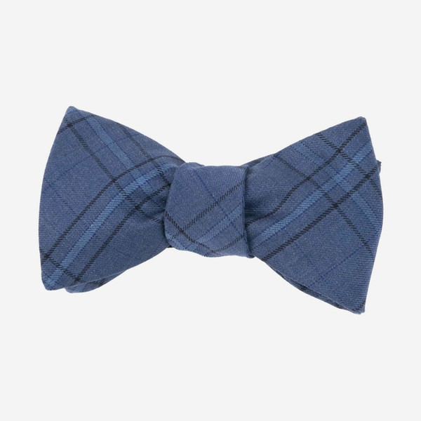 Quotidian Plaid Navy Bow Tie