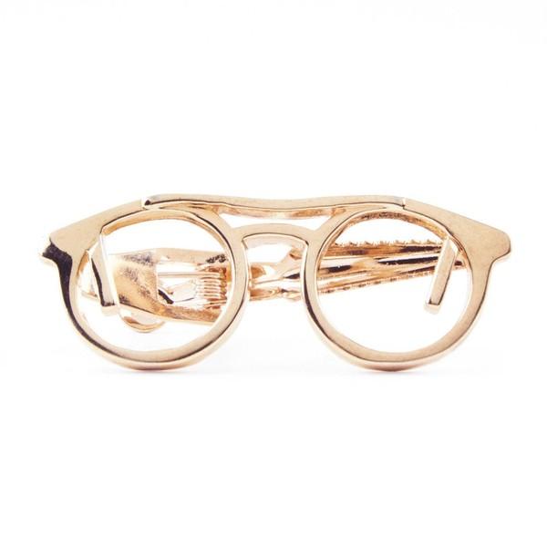 Glasses Rose Gold Tie Bar