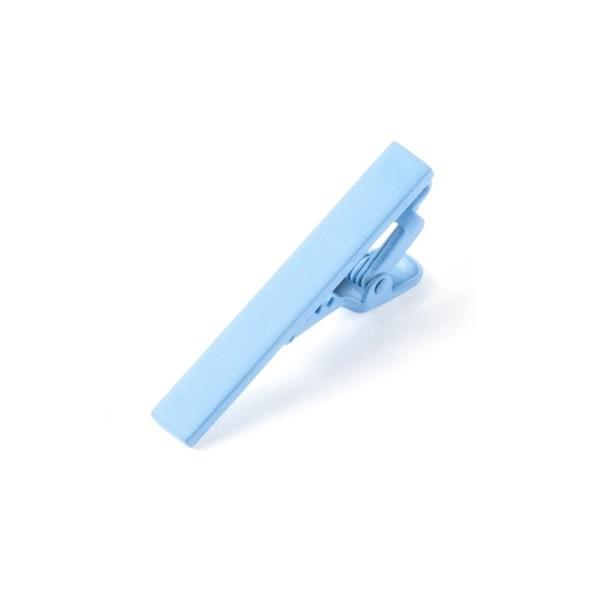 Matte Color Light Blue Tie Bar