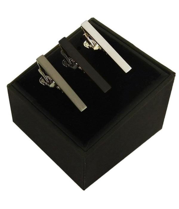 3 Pack Set Black Tie Bar