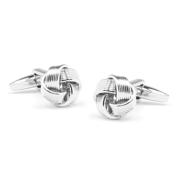 Knotted Silver Cufflinks