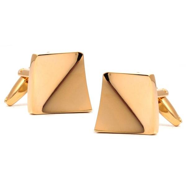 Golden Slant Cufflinks