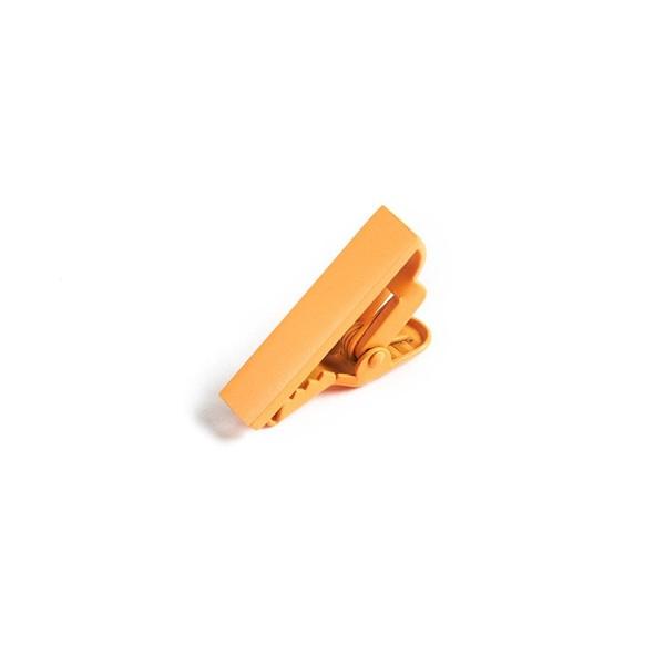 Matte Color Orange Sherbet Tie Bar