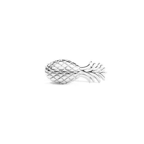 Pineapple Silver Tie Bar