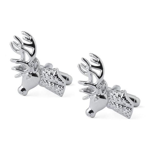 Silver-Nosed Reindeer Cufflinks