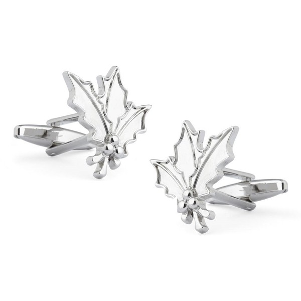 Mistletoe Silver Cufflinks