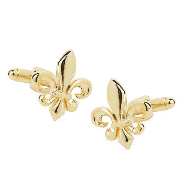 Flower De Luce Gold Cufflinks