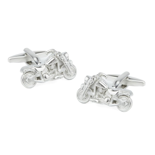 Motorcycles Silver Cufflinks