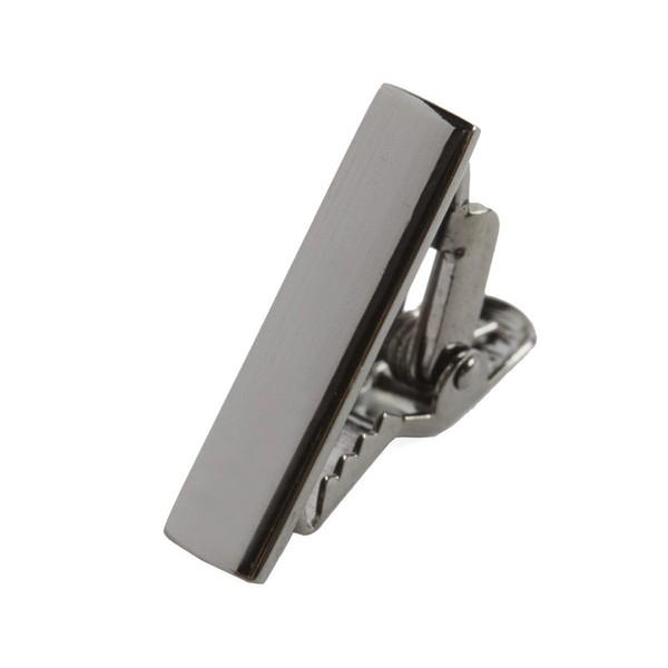 Gun Metal Shot Tie Bar